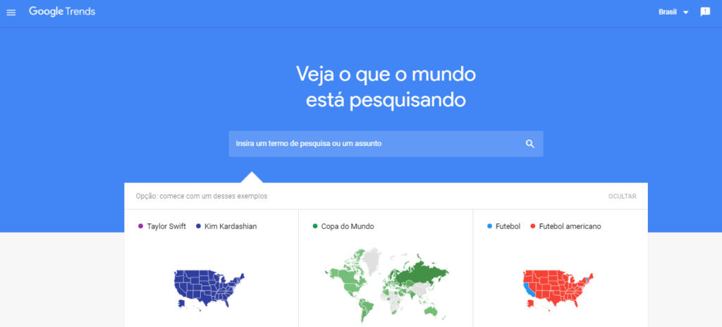 google trends pagina inicial